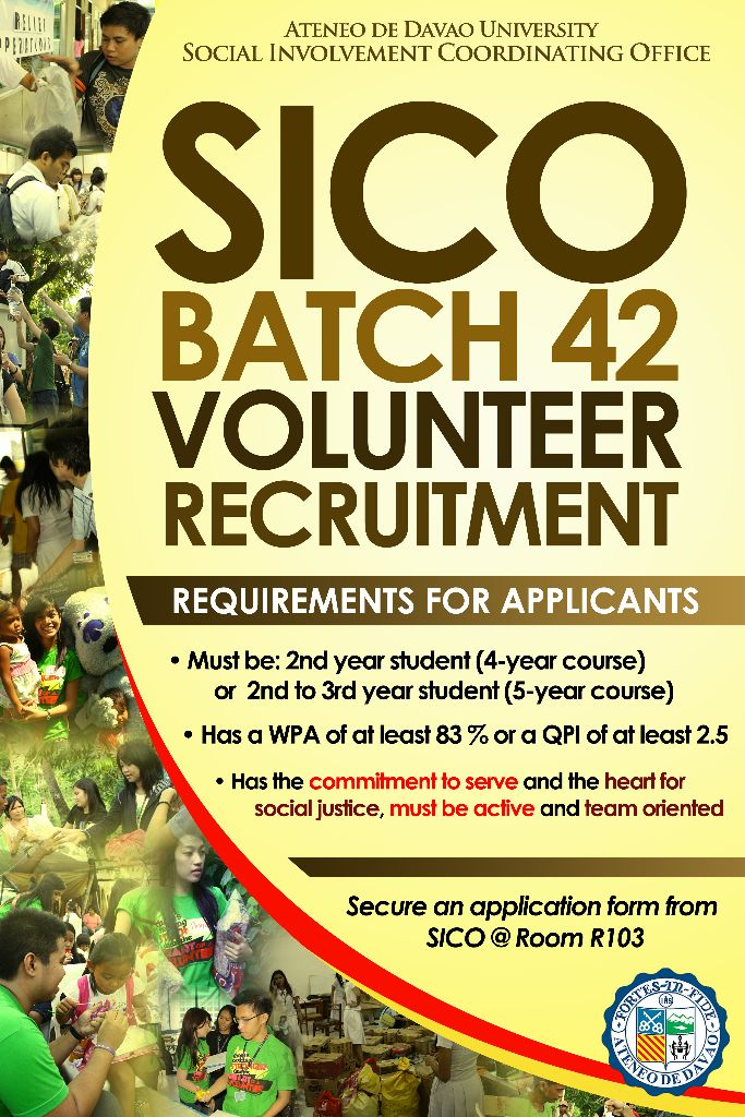 SICO Batch 42 Volunteer Recruitment Poster